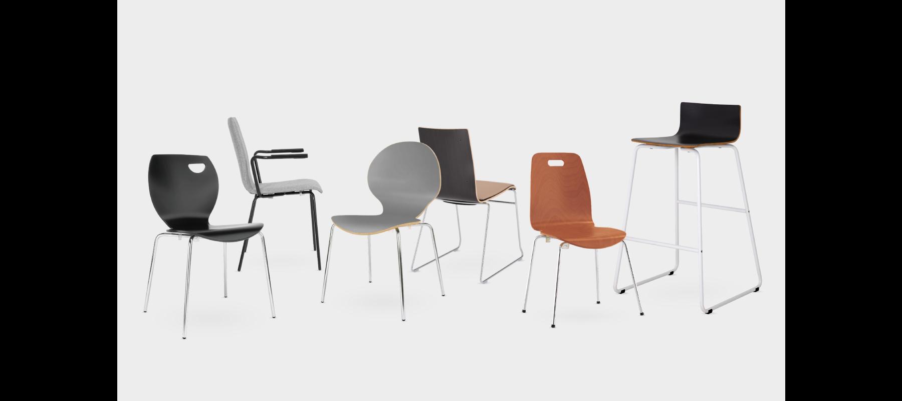 krzesła stacjonarne cafe aranżacje - 04