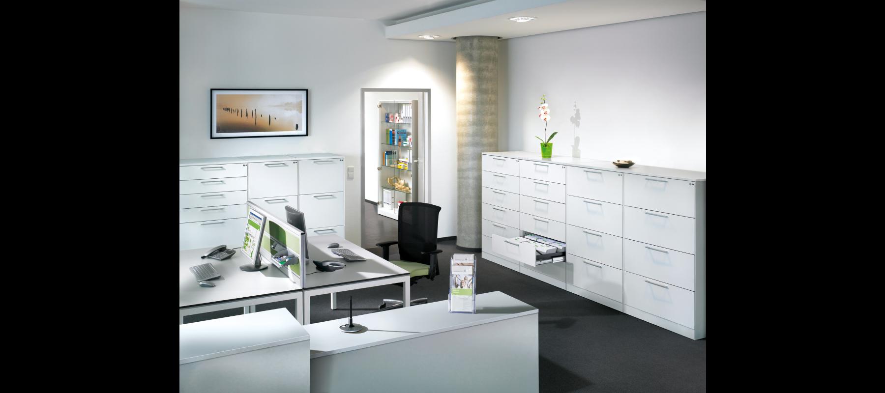 metalowe meble biurowe szafy szufladowe cp aranżacja - 02