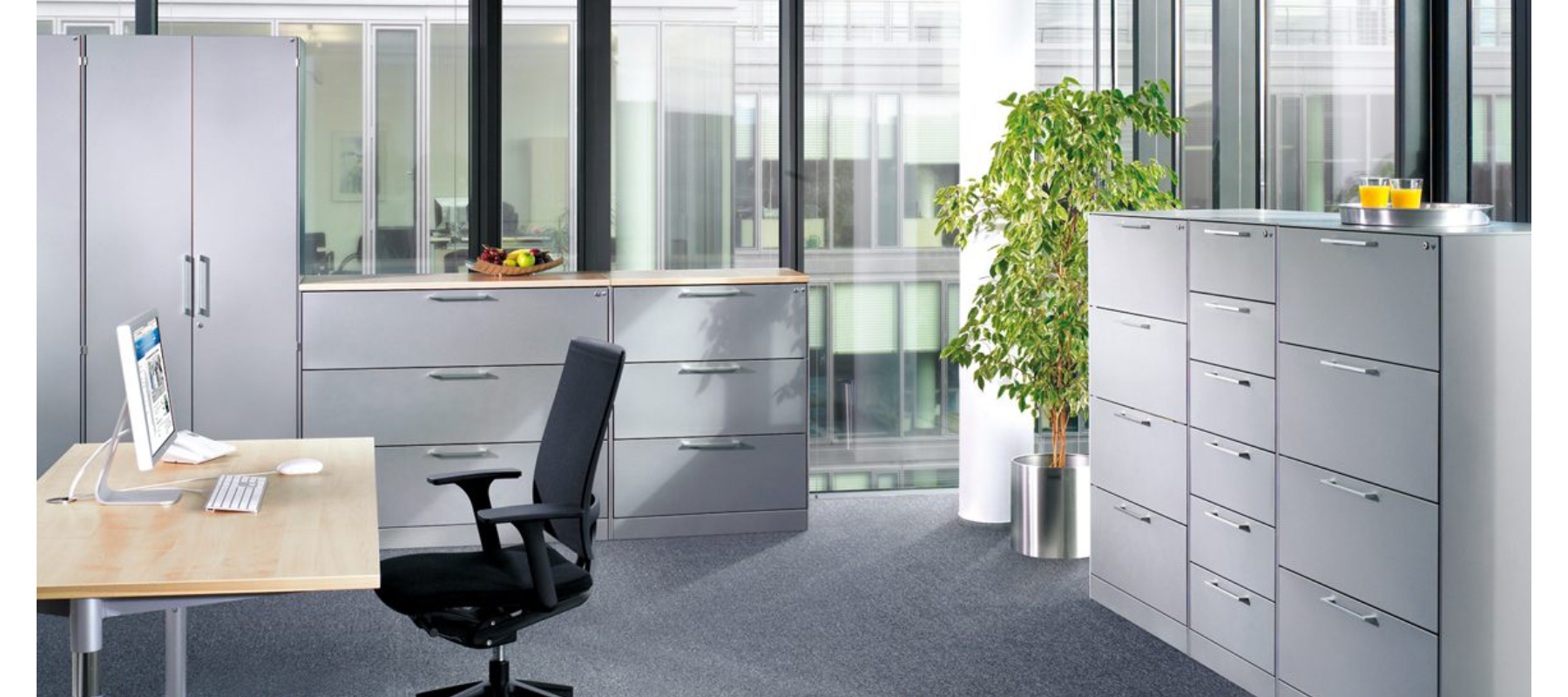 metalowe meble biurowe szafy szufladowe cp aranżacja - 03