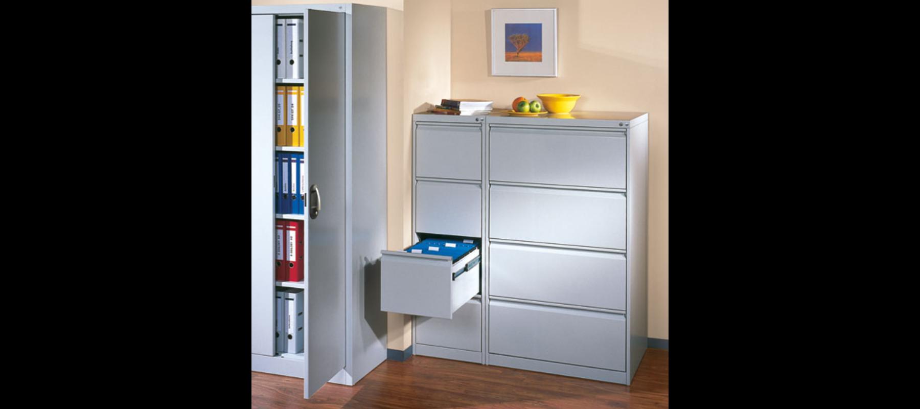 metalowe meble biurowe szafy szufladowe cp aranżacja - 05
