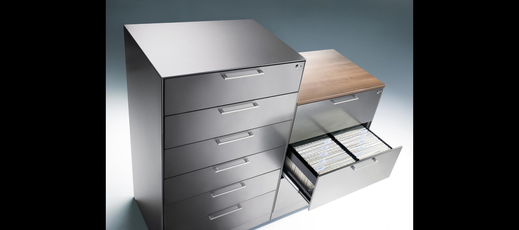 metalowe meble biurowe szafy szufladowe cp aranżacja - 07